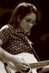 Young Tara on Guitar